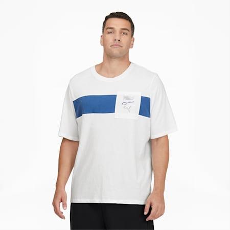 CamisetaRebel Advancedpara hombre BT, Puma White-Star Sapphire, pequeño