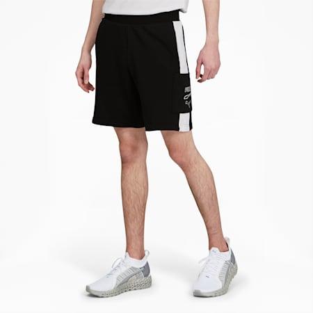 Shorts con bolsillo Rebel para hombre, Puma Black, pequeño