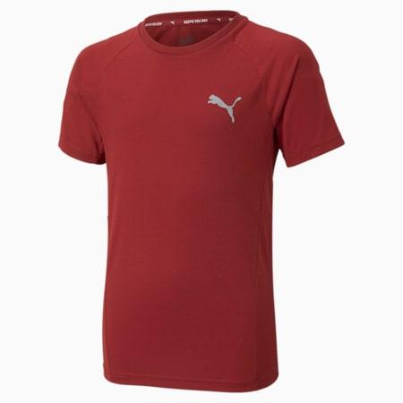 Młodzieżowy T-shirt Evostripe, Intense Red, small