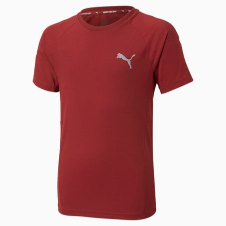 Evostripe Youth Tee, Intense Red, small-GBR