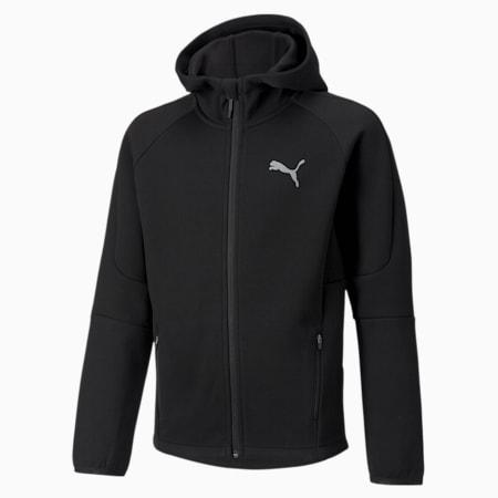 Evostripe hoodie met rits voor jongeren, Puma Black, small