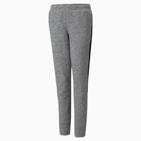 Evostripe Youth Pants, Medium Gray Heather, small