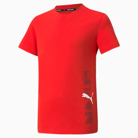 Active Sport Graphic Youth Tee, High Risk Red, small-SEA