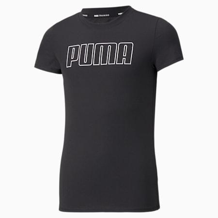 T-shirt Runtrain, fille, Puma Black, petit