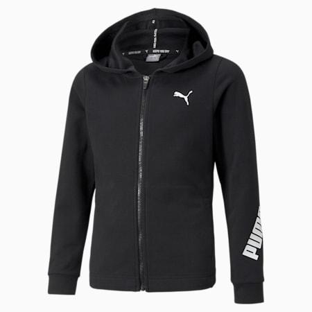 Sudadera con capucha de cierre completo Modern Sports para niñas, Puma Black, pequeño