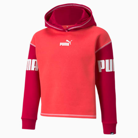 Power Youth Hoodie, Paradise Pink, small-GBR