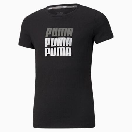 Alpha Youth Tee, Puma Black, small-SEA