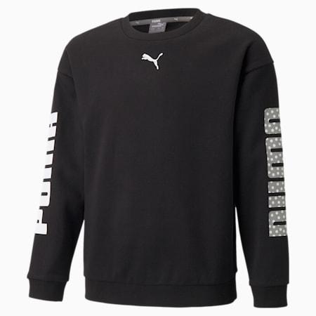 Alpha Jugend Sweatshirt mit Rundhalsausschnitt, Puma Black, small