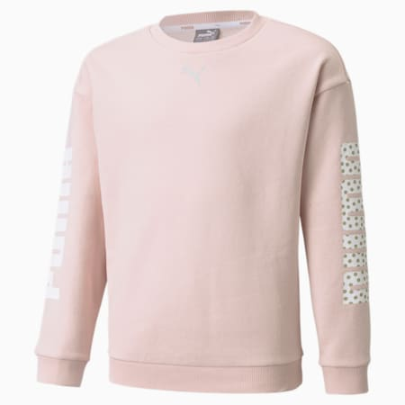 Alpha Crew Neck Youth Sweater, Lotus, small-GBR