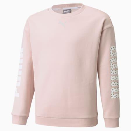 Alpha Jugend Sweatshirt mit Rundhalsausschnitt, Lotus, small