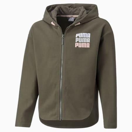 Alpha Full-Zip Youth Jacket, Grape Leaf, small