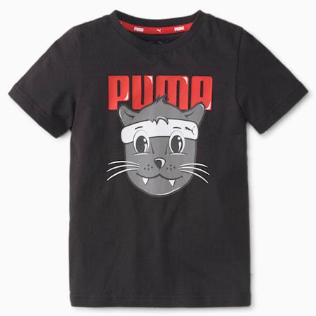 LIL PUMA Kid's T-Shirt, Puma Black, small-IND
