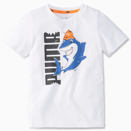 LIL PUMA Kid's T-Shirt, Puma White, small-IND