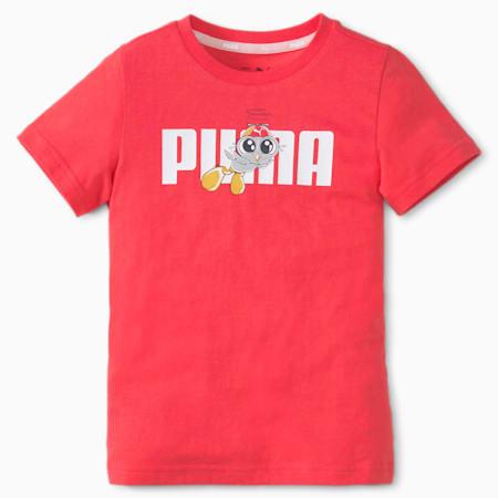 LIL PUMA Kid's T-Shirt, Paradise Pink, small-IND