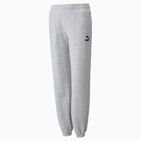Pantalones holgados GRL, Light Gray Heather, pequeño
