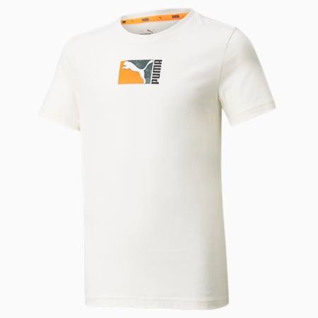 Camiseta Alpha Holiday, Ivory Glow, pequeño