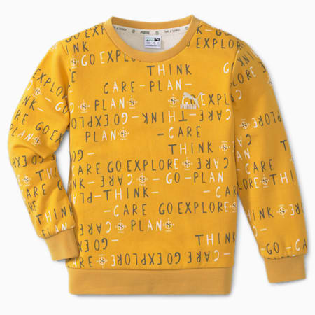 T4C Crew Kid's Loose Sweat Shirt, Mineral Yellow, small-IND