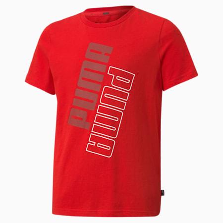 Camiseta con logo POWER para niños, High Risk Red, pequeño