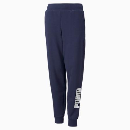 Pantalones deportivos con logo Power para niños, Peacoat, pequeño