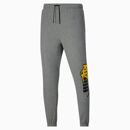 PUMA x KUZMA Herren Sweatpants, Medium Gray Heather, small