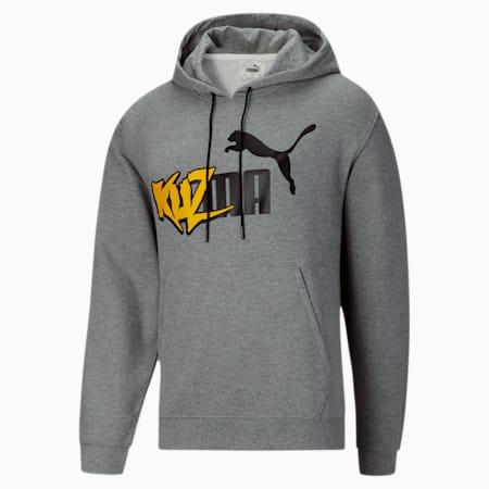 Sweatshirt à capuche PUMA x KUZMA pour homme, Medium Gray Heather, small