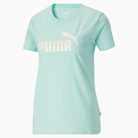 Camiseta Essentialscon logo para mujer, Eggshell Blue-Ivory Glow, pequeño