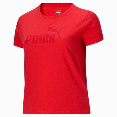 Camiseta Essentialscon logo para mujer PL, Poppy Red, pequeño