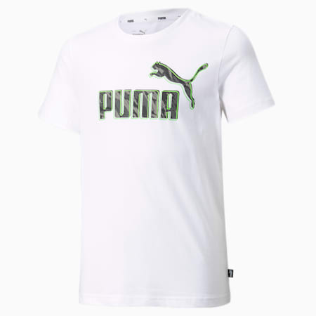 T-shirt graphique, garçon, Blanc Puma, petit