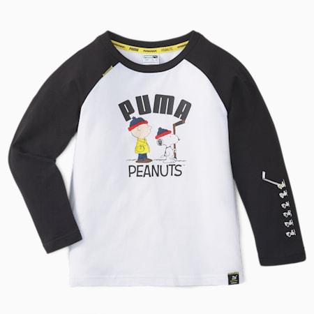 キッズ PUMA x PEANUTS 長袖 Tシャツ 104-164cm, Puma Black, small-JPN