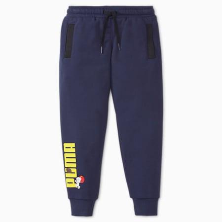 PUMA x PEANUTS Kids' Sweatpants, Peacoat, small-GBR