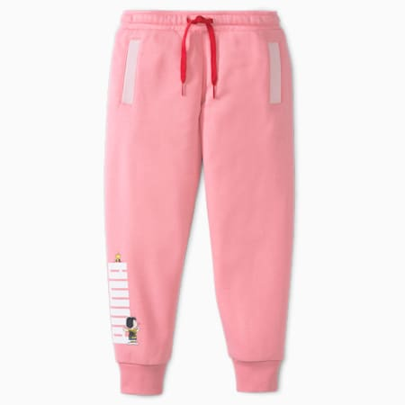 Pantalon en molleton PUMA x PEANUTS, enfant, Pivoine, petit