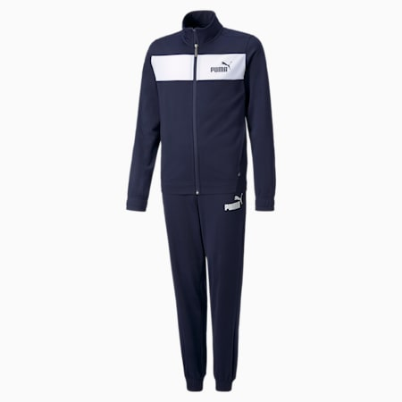 Polyester Youth Tracksuit, Peacoat, small-GBR