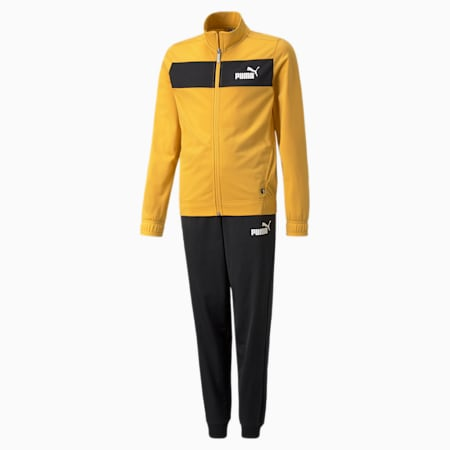 Polyester Youth Tracksuit, Mineral Yellow, small