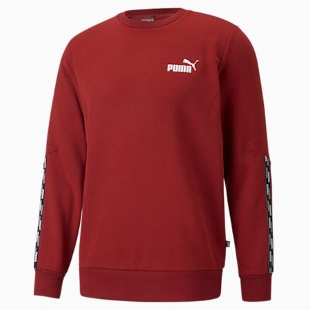 Power Tape Crew Neck Men's Sweatshirt, Intense Red, small-GBR