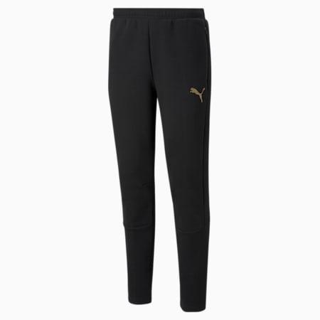Evostripe 팬츠/EVOSTRIPE Pants, Puma Black-Gold, small-KOR