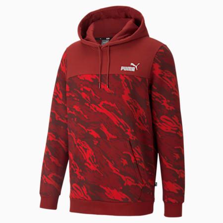 Sudadera con capucha estampada para hombre, Intense Red, pequeño