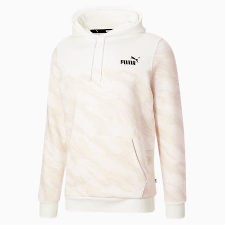 Sudadera con capucha estampada para hombre, Puma White-Camo AOP, pequeño