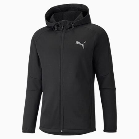Evostripe Warm Full-Zip Men's Hoodie, Puma Black, small
