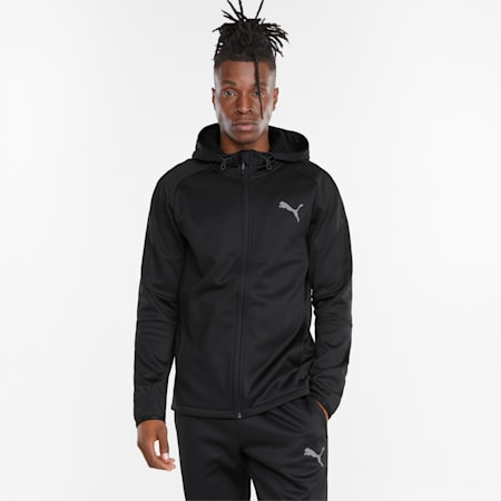 Evostripe Warm Full-Zip Men's Hoodie, Puma Black, small-GBR