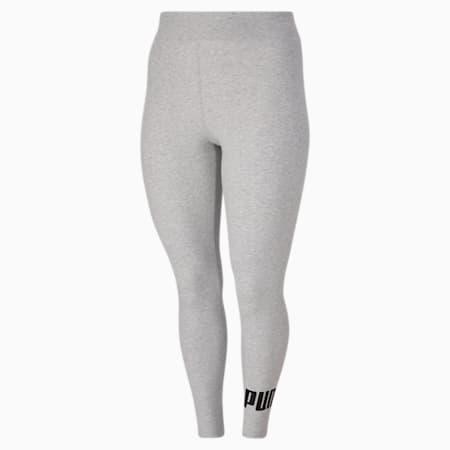 Leggings à logo PL Essentials, femme, Gris bruyère clair-noir Puma, petit