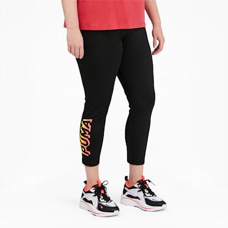 Leggings 7/8 Modern Sports para mujer PL, Puma Black-Georgia Peach, pequeño
