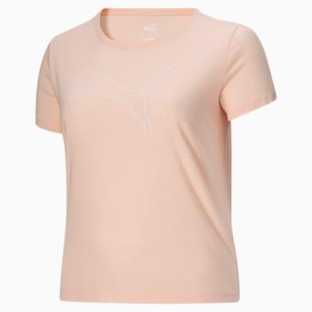 Camiseta con logoRTG Heather PL para mujer, Cloud Pink Heather, pequeño