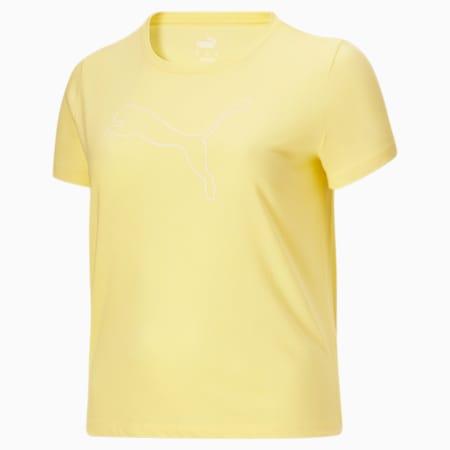 Camiseta con logoRTG Heather PL para mujer, Amarillo Pear Heather, pequeño