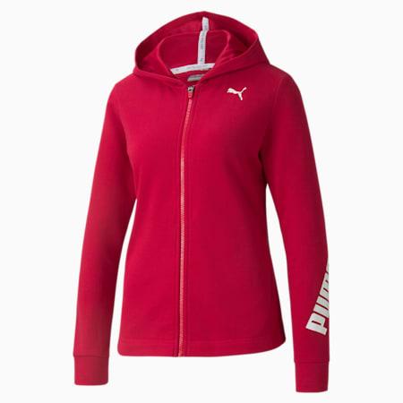 Kangourou à glissière complète Modern Sports, femme, Rouge persan, petit