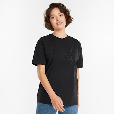 HER T-shirt voor dames, Puma Black, small
