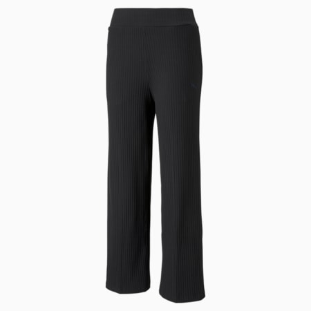 HER Ribbed Wide Women's Pants, Puma Black, small