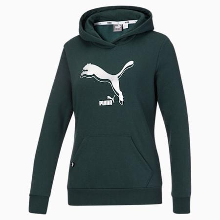 Kangourou à logo PUMA POWER, femme, Pignons verts, petit
