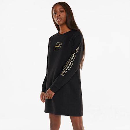 Holiday Women's Dress, Puma Black-Gold, small-GBR