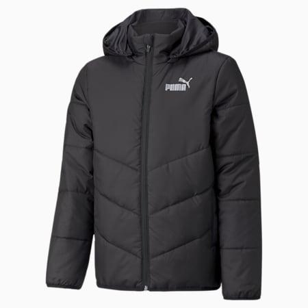 Essentials Padded HD Youth Jacket, Puma Black, small