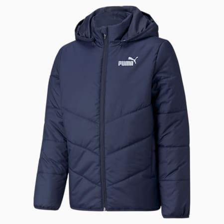 Młodzieżowa wyściełana kurtka Essentials HD, Peacoat, small